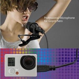 Image 2 - USB Stereo zewnętrzny mikrofon wysokiej wierności mikrofon dla GoPro Hero 4 3 3 + aparat działania 8899