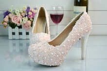 14 cm high with crystal bride shoes Picture taken waterproof single shoes Ultra-high with pink lace