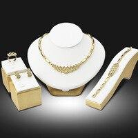 2016 nigeriano boda africano Cuentas Juegos de joyería Dubai oro Juegos de joyería traje diseño largo romántico caja de regalo libre