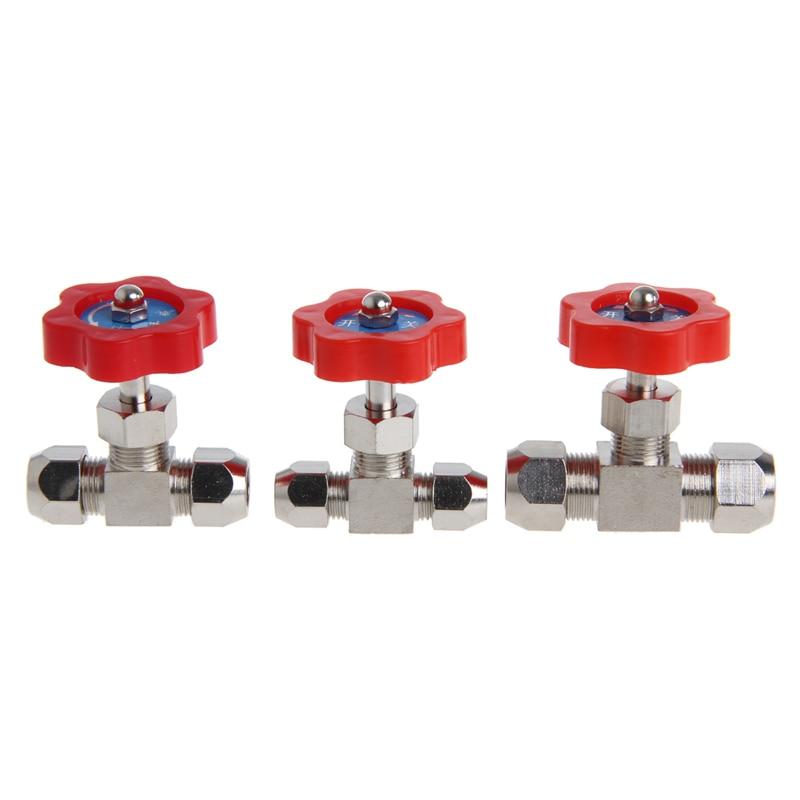 1 Stück Durable Rohr Nickel-Überzogene Messing Stecker Nadel Ventil Od 6mm/8mm/10mm Einfach Zu Reparieren