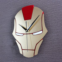 Iron Man Wall Clock Modern Design Decorative Children Room 3D Hanging Creative Kids Clocks Wall Watch Home Decor Silent