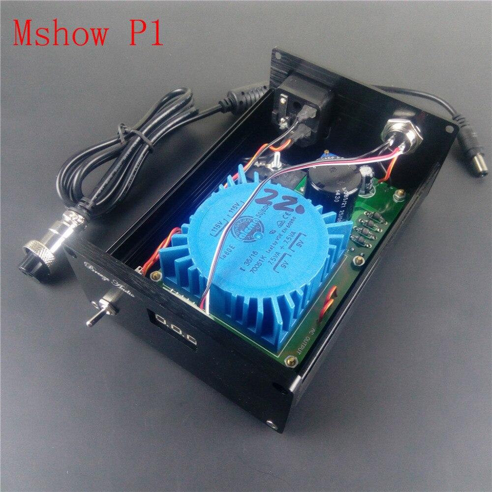 Mshow P1 15VA Talema Linear Power Supply for SMSL M8 /CM6631A / XMOS DAC  output option DC:5V 7V 8V 9V 12V 15V 18V 24V hifi audio
