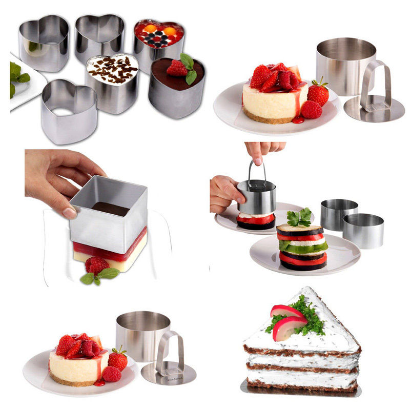 DIY Baking Tools Cake Mold Retractable Stainless Steel Circle Mousse Ring Baking Tool Set Size Adjustable Bakeware ...