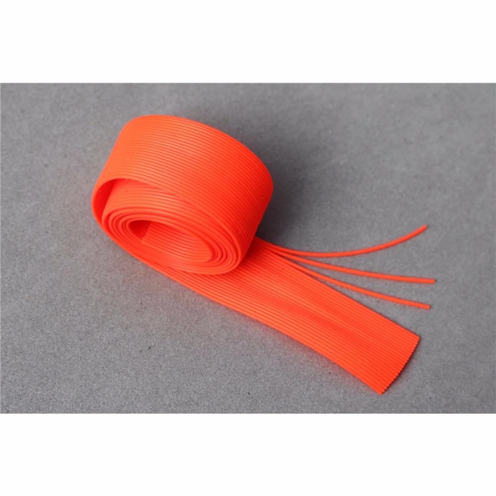 Tigofly 120cm Silicone Skirts Round Cylinder 6 Colors 0.7mm thick DIY Spinner Bait Squid Rubber Thread Fly Tying Materials