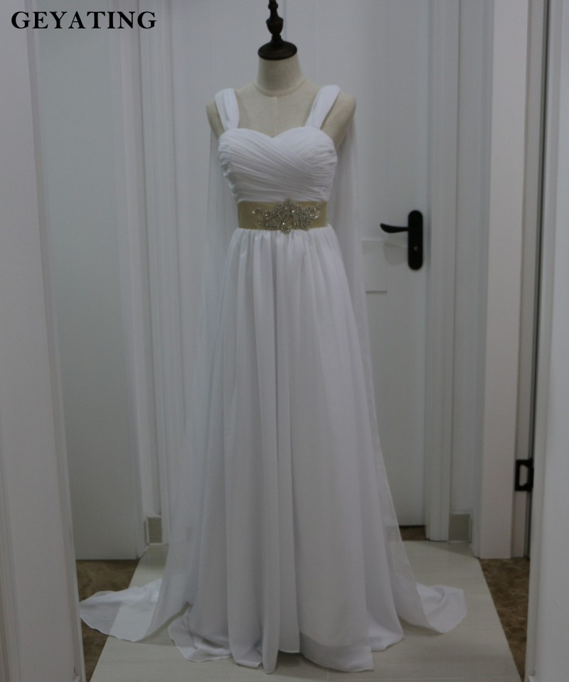 Grecian Style Wedding Gown: Greeky Style A Line Chiffon Grecian Wedding Dress With