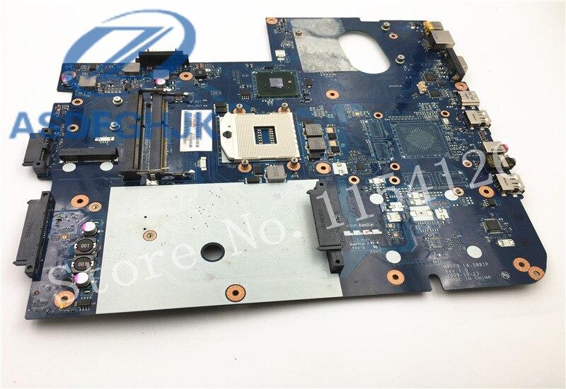 Carte mère dordinateur portable LA-5881P pour Gateway NV79 carte mère MBWHH02001 MB. WHH02.001 NAYF0 DDR3 HM55 intégré 100% Test ok