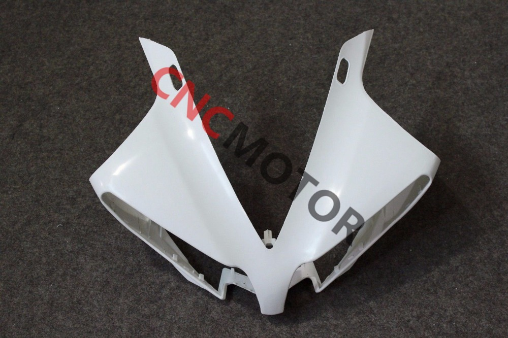 Unpainted ABS Plastic Front Upper cowl nose Fairing for YAMAHA YZF R1 2013 2014 unpainted abs plastic front upper cowl nose fairing bodywork for yamaha yzf r6 r600 1998 2002 1999 2000 2001