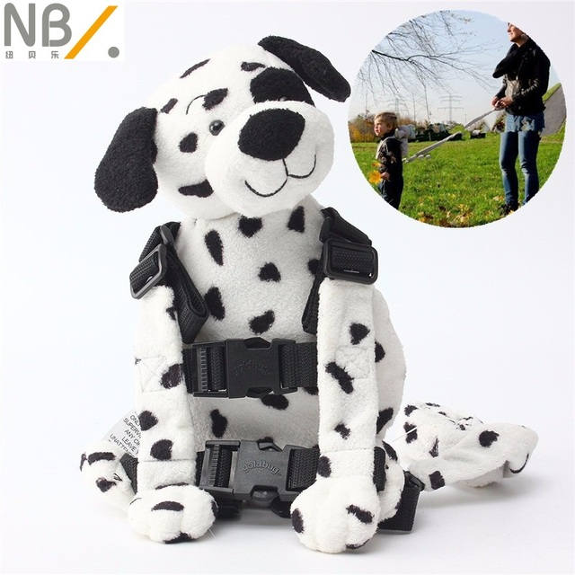 Newbealer  Safety Harness Strap Baby Kids Child Toddler Walking Backpack Reins Bag Dalmatian Puppy
