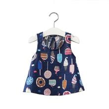 2-7y Sommer Mädchen Kleid Mädchen Kleidung Kinder Kinder Berry Kleid Zurück V Kleid Mädchen Baumwolle Kinder Weste Kleid Kinder Kleidung 2018