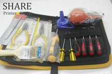 Tool kit for toner cartridge refilling