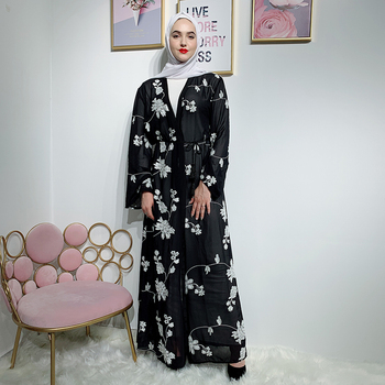 Black Kimono Abaya Dubai Turkish Muslim Hijab Dress Abayas For Women Kaftan Caftan Marocain Islamic Clothing Robe Islam Turkey
