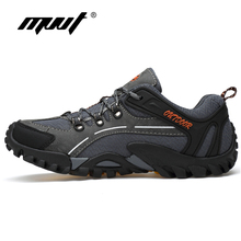 High Quality Microfiber Leahter Men Hiking Shoes Outdoor Non-slip Sneakers Wearable Sport
