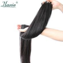Ilaria прямые волосы 30 32 34 36 38 дюймов 40 дюймов пучки малайзийские человеческие волосы пучки волос плетение длинные девственные волосы утка 1/3/4 шт