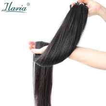 Ilaria Straight Hair 30 32 34 36 38 Inch 40 Inch Bundles 100% Malaysian Human Hair Weave Bundles Long Virgin Hair Weft 1/3/4 PCS(China)