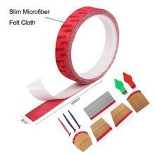 FOSHIO tela de microfibra de ante para coche, tela de borde de fibra de carbono, envoltura de vinilo, escurridor de tinte de Ventanilla, Protector sin arañazos, 200CM