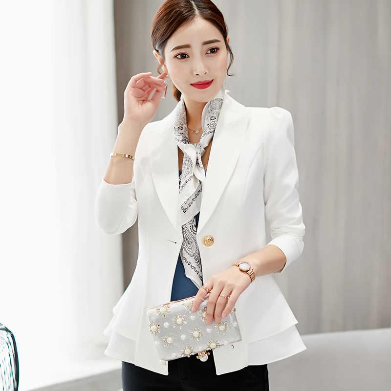 f966fe8df ... De moda, chaqueta de las mujeres 2019 primavera otoño Slim Formal  chaquetas Oficina ropa de ...