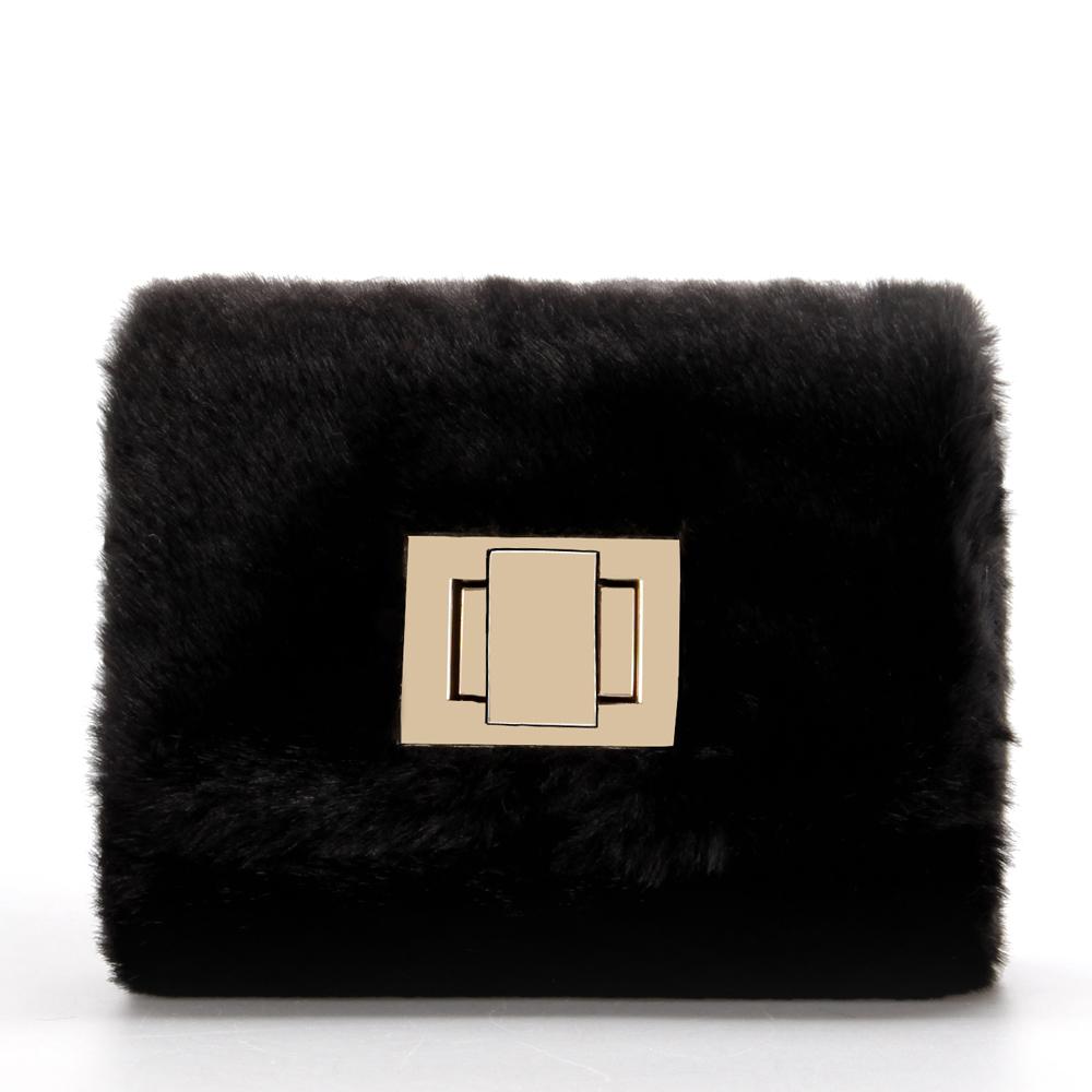 Brand Women Winter Faux Fur Handbags Woman Chain Shoulder Crossbody Bags mini bags bolsas femininas women messenger bag hasp цена 2017