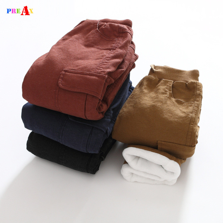 Winter Autumn Cotton Jeans for Baby Boys Casual Blue Pants Children Trousers Fashion Casual Warm Velvet Clothing for School Kids children clothing male child jeans trousers spring winter autumn 8 child jeans winter big boy trousers casual pants for 7 15 y
