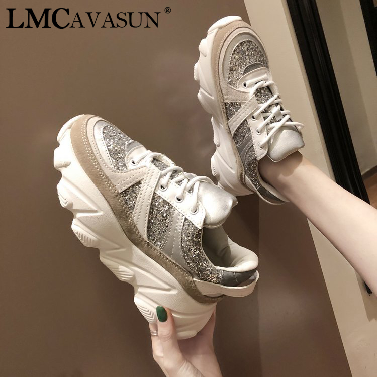LMCAVASUN Women's Vulcanize Shoes Brand woman leopard sneakers Leather women Warm winter Casual Shoes Femme