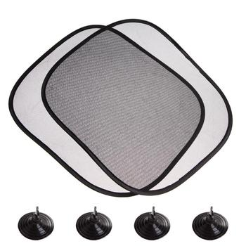 2Pcs 44*36cm Black Mesh Car Sun Shade Side Rear Window Glass Sunshade Cover Visor Shield Screen Solar Protector Auto Accessories image