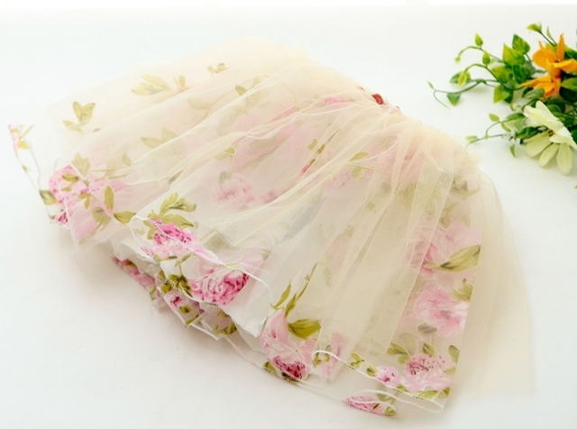 summer new cute beautiful  girl Eugen flower yarn skirt  tutu skirt  Aestheticism 4pcs/lot