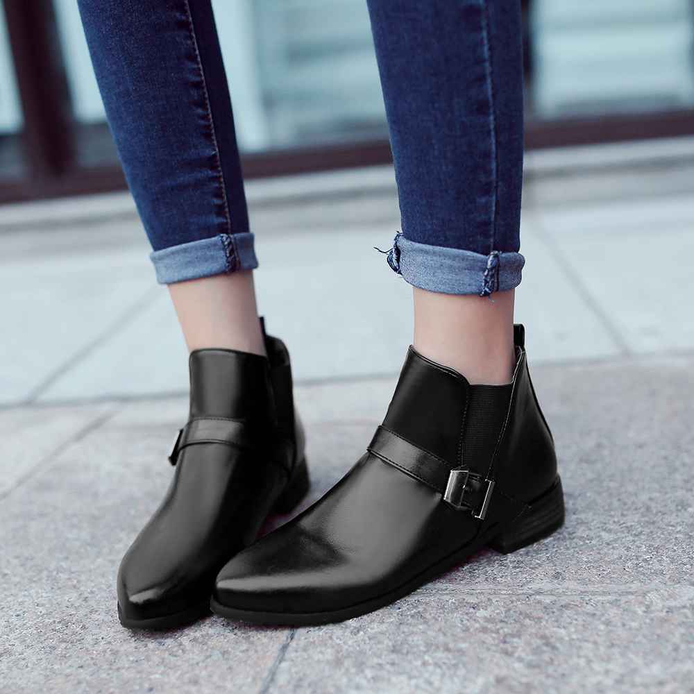 Popular Low Heel Ankle Boots Red-Buy Cheap Low Heel Ankle Boots ...