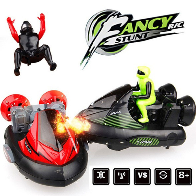High Speed Set of 2 Stunt Remote Control RC Battle Bumper Cars with Drivers Play Ready-To-Go RC Machine Toy For Boys Gifts