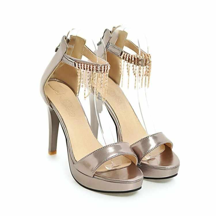 ใหญ่ขนาด 9 10 11-15 ผู้หญิงฤดูร้อนรองเท้าแตะผู้หญิงรองเท้าผู้หญิงเปิดนิ้วเท้าเพชรจี้กระเป๋าซิป