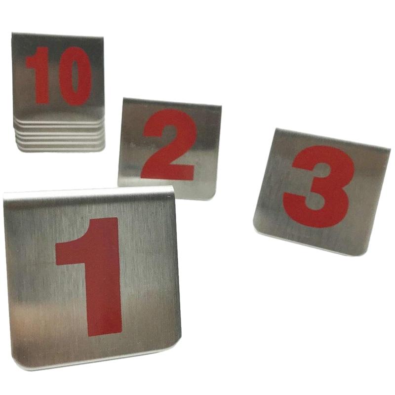 10 шт металлический крепеж для тента Стиль Штабелируемые настольные номера, место карты подходит для ресторанов кафе баров и личных посиделок.(Оцепенелый - Цвет: as show