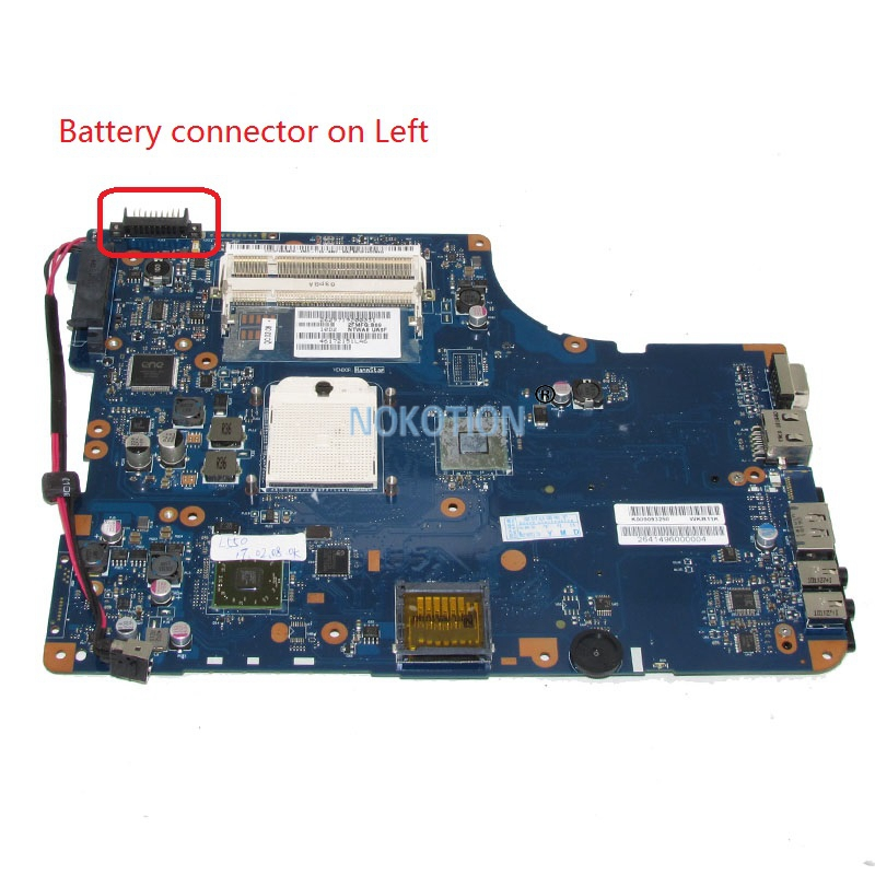NOKOTION K000093250 NSWAE LA-5332P Laptop Motherboard For Toshiba satellite L555 L555D L550D Main Board WORKS nokotion laptop motherboard qfkaa la 8392p for toshiba satellite p850 p855 new k000135160 main board ddr3 hd4000 100% tested