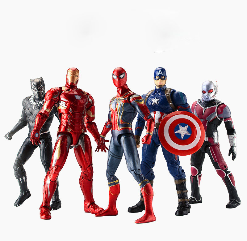marvel-font-b-avengers-b-font-4-endgame-action-figure-toy-iron-man-captain-america-hulk-ant-man-black-panther-war-machine-hawkeye-natasha-toy