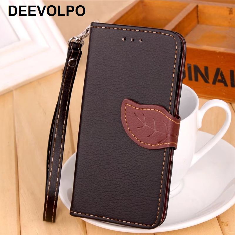 DEEVOLPO Phone Case For Fundas Motorola Moto G4 G5 G5S G6 Plus X X2 Z2 Play Style Leaf Hit Color Cover Wallet Stand Capa DP05F