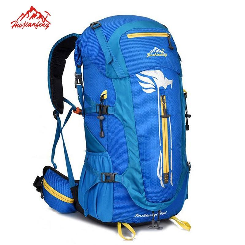 Men's Professional Hiking Backpacks Camping Outdoor Waterproof Nylon Rucksucks Mochila Trekking Shoulder Sport Bags Backpack 50L