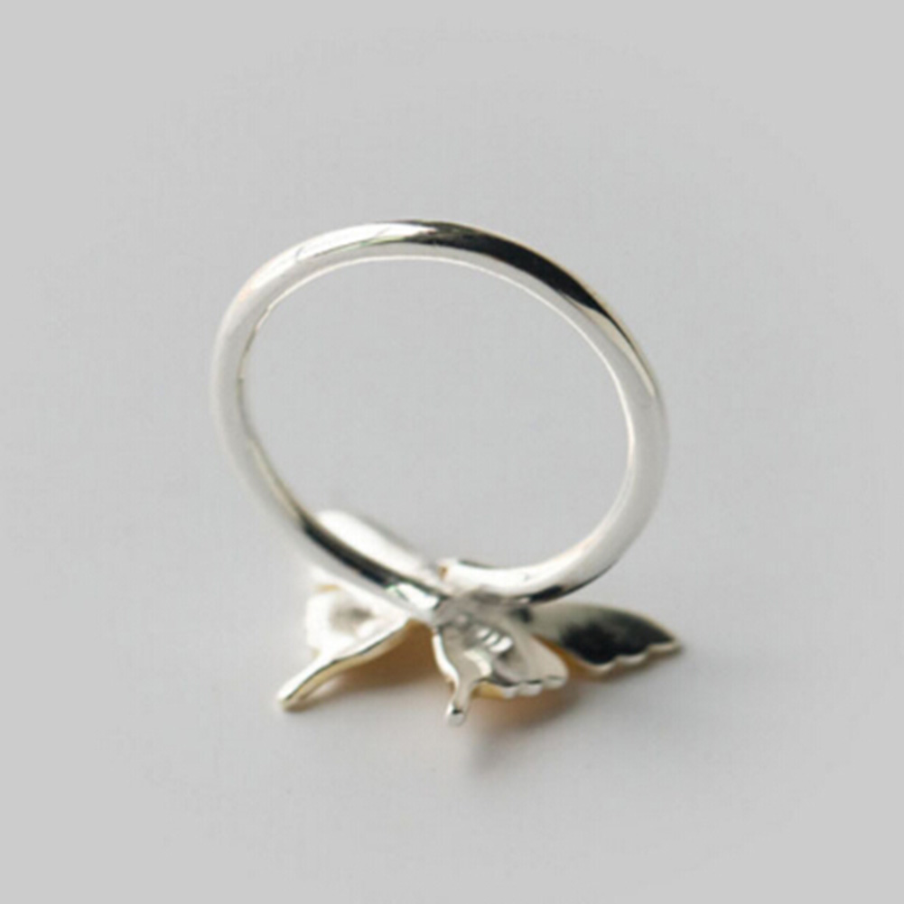 Silver Gold Color Ring Butterfly Ring Midi Pinkie Finger Toe Rings Anillo For Lady Women Christmas Jewelry