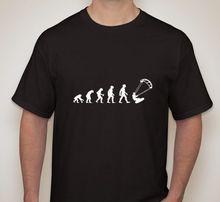 evolution kite sailinger water board small-2XL available 100% Cotton Short Sleeve O-Neck Tops Tee Shirts Print T-Shirts Men