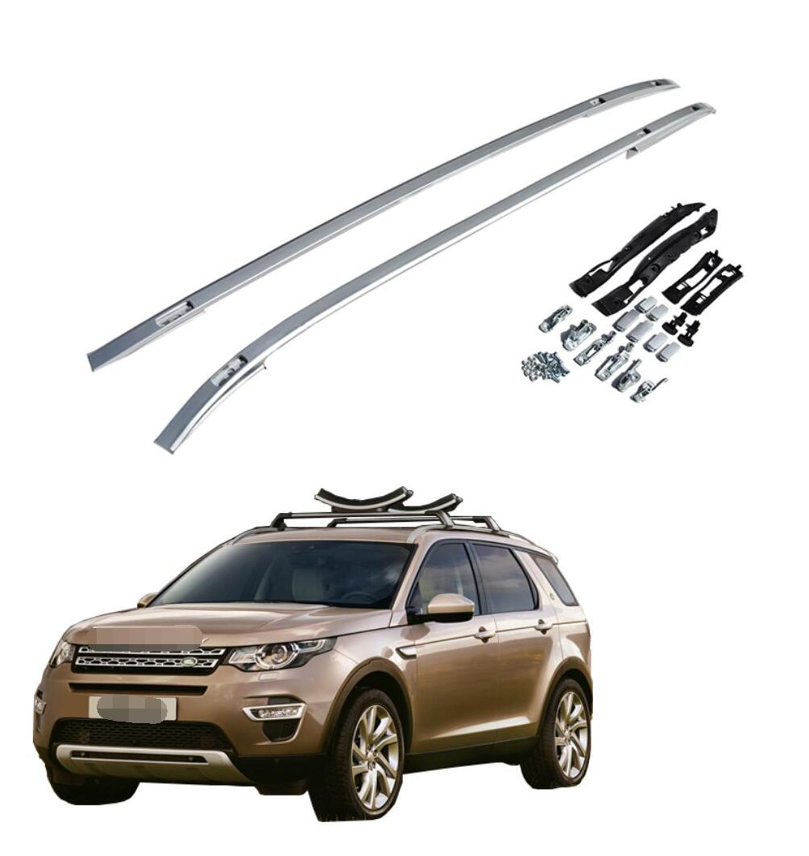 Pour Land Rover Discovery Sport 2015-2019 Aluminium alliage argent Top barres de toit Rack barres latérales décoration garniture accessoires de voiture