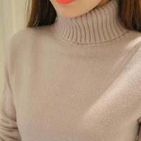 Womens Knitwear 2017 Autumn Winter Pullover Sweaters Turtleneck Long Sleeve Solid Sexy Slim Pulover Feminino Inverno