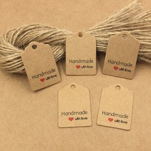 200pcs Kraft Paper Reward Tags With Strings,Wedding ceremony Packing Labels Love Handmade Kraft tags ,Paper Card Value tags,Hold tags