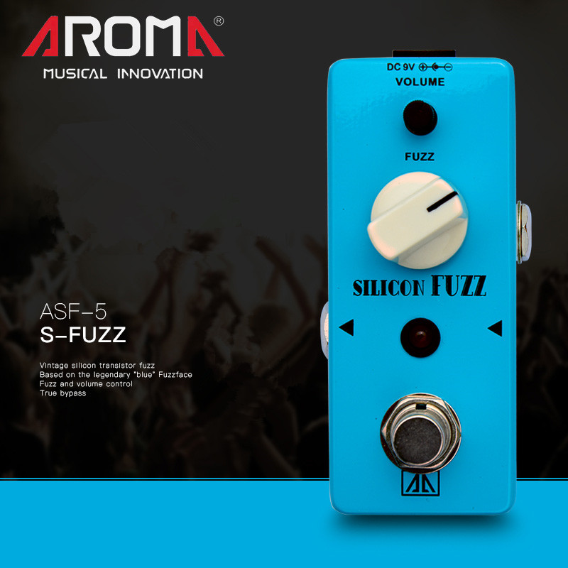 AROMA ASF-5 Classic Silicon Tube Fazli Effect Electric Guitar FUZZ Single Effect Device True Bypass Guitar Parts & Accessories aroma adr 3 dumbler amp simulator guitar effect pedal mini single pedals with true bypass aluminium alloy guitar accessories