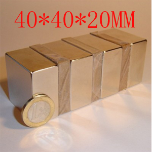 40*40*20 40 x 20 mm powerful magnet craft neodymium magnets rare earth permanent strong N52 n52 holds 60kg 40