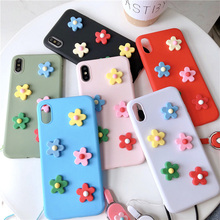 Moskado Phone Case For iPhone XS Max XR X Soft Silicone 6 6s 7 8 Plus 3D Little Flower Fashion Multicolored Capa