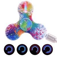 LED Light Hand Spinner USB Spinner Luminous Spinner 15 Different Color LED Light In The Dark