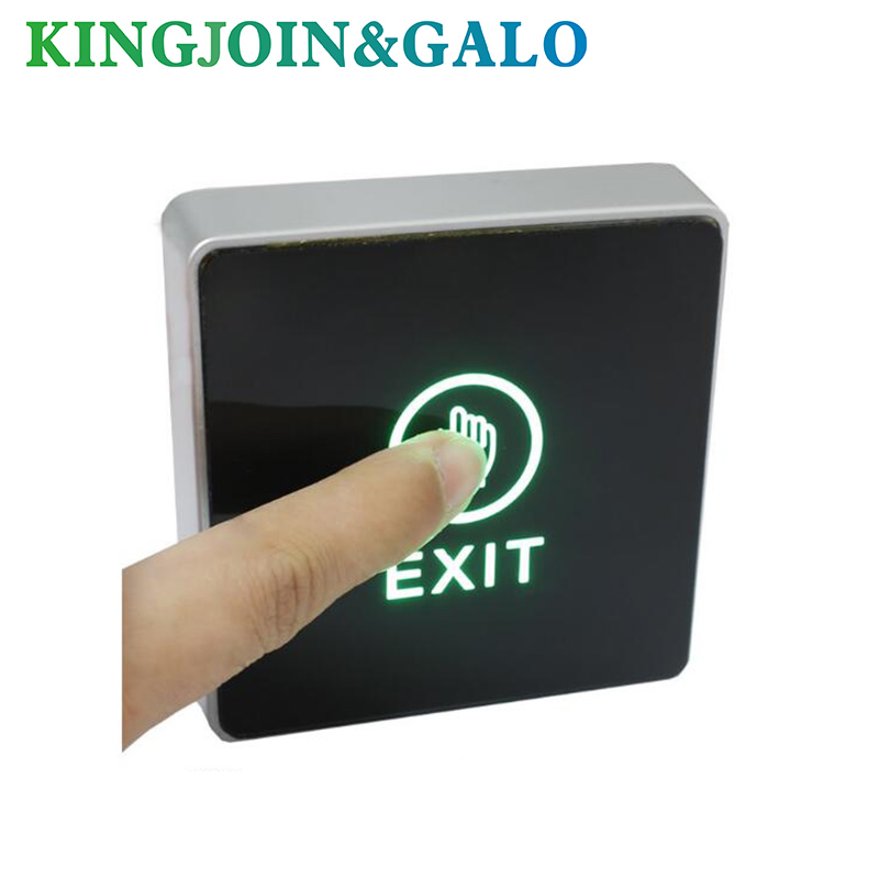 DC 12V NC NO Release Button Switch Square Touch Sensor Door Exit With LED Light Door Switch Button