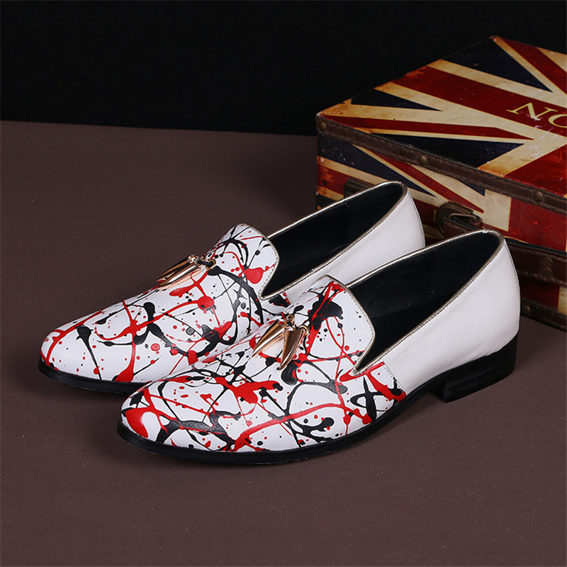 Luxury Brand Fashion White Leather Men Dress Shoes Pointed Toe Business Wedding Party Shoes Low Top Star Mens Casual Flats Shoes nokotion brand new qcl00 la 8241p cn 06d5dg 06d5dg 6d5dg for dell inspiron 15r 5520 laptop motherboard hd7670m 1gb graphics