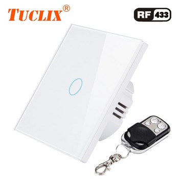 TUCLIX EU interruptor de pared inteligente estándar interruptor de Control remoto 1 Unidad 1 vía Control remoto inalámbrico interruptor de luz táctil