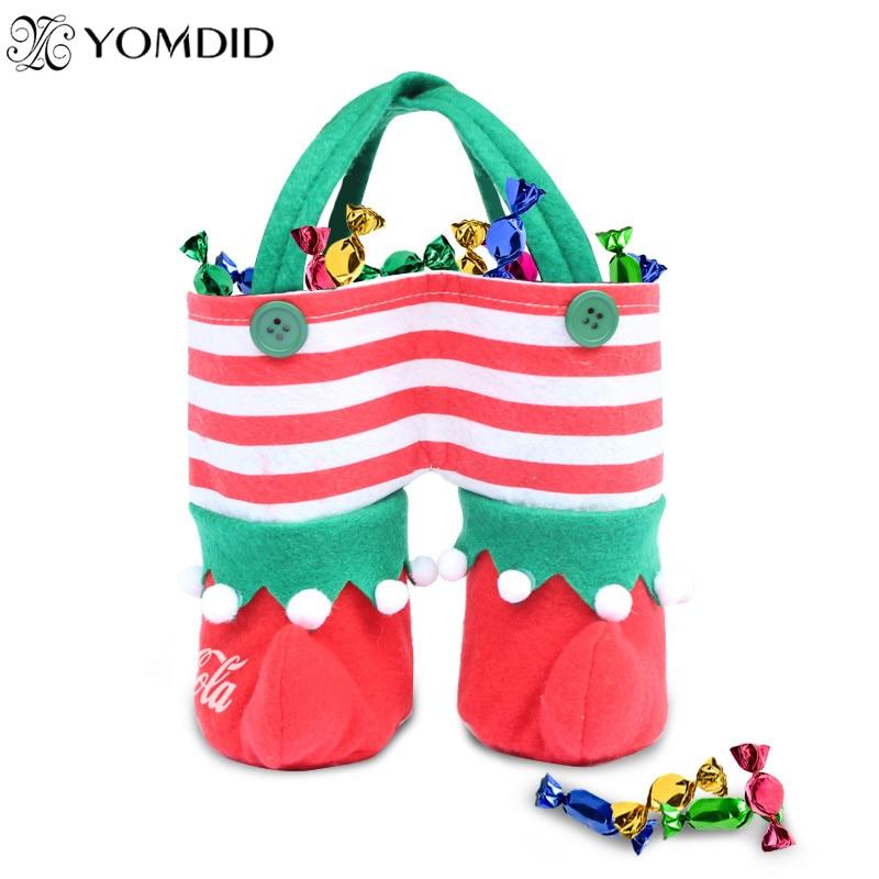 Elf Christmas Gift Bags.2pcs Lot Christmas Gift Bags Stocking Elf Candy Bags Lovely Stocking Bags Drinks Gifts Candy Bag Christmas Decoration Tree Decor In Stockings Gift