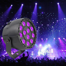 High Power 36W 12 LEDs Sound Active UV Led Stage Par Light Ultraviolet Led Spotligh Lamp for Disco DJ Projector Machine Party