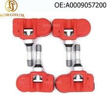 Комплект(4) Красный TPMS датчик давления в шинах подходит для Mercedes Smart 433,92 MHz A0009057200 A0009057200Q03