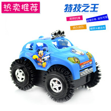 2017 New Electric tipcart children electric toy car will turn a somersault Stunt Car stall selling toys
