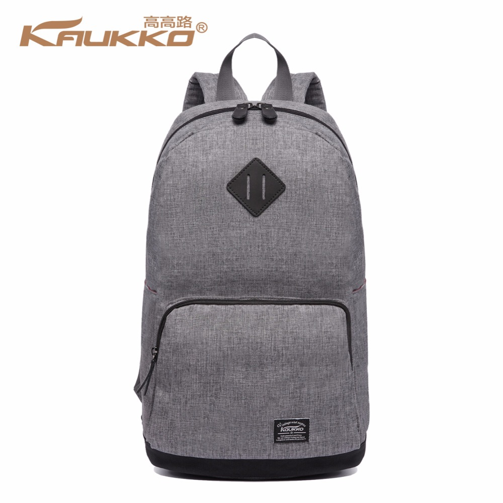 KAUKKO Men school bags backpack student bag college high school bags for teenagers canvas travel bag laptop backpack